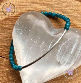 Apatite Beaded Tube Bracelet